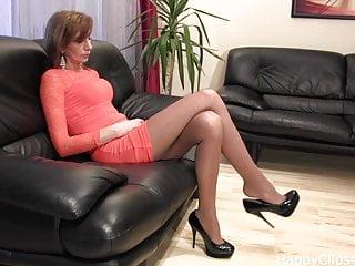 Dangle fuck - Amazing black high heels dangling