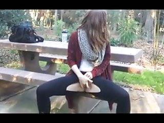 Teen squirt porn - Littlekissmuffin: teen squirts outdoors