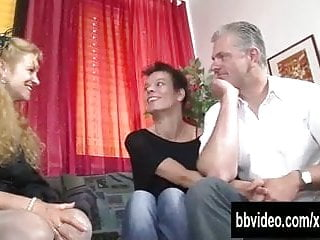 Short haired lesbian slut Short haired german lesbian gets fucked in threesome
