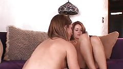 Cougar teaches teen lesbians the best of tricks