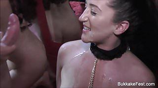 Isabella Bangs First Bukkake Shot