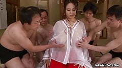 Lady Airi getting fucked and cummed all over her cute face