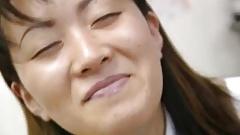 Saki Shiina has hairy cunt measured and sucks doctor's phallus