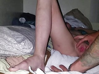 Small tit shaved spinners Spinner getting played with, fucked and cream-pied part 1
