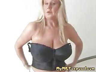 Busty huge blonde 03 Super busty blonde milf massaging her huge tits in shower