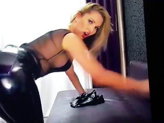 Why do pornstars wear high heels Camgirl wearing pvc leggings plays with sexy high heels