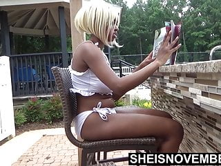 Ebony girls naked videos - Getting naked after hanging out in the swimming pool, ebony