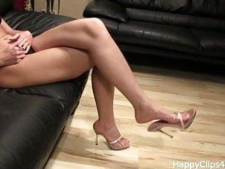 Ballet slipper fetish foot job Jenna slipper dangling