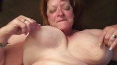 Big tit granny cums on BBC