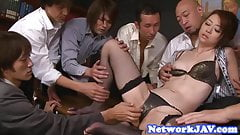 Asian milf facialized and creampied