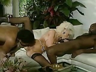 Hustler platinum vol.2 Vintage busty platinum blond with 2 bbc facial