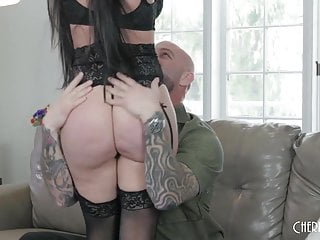 Black hair with big tits Big ass and big tit black hair babe gets fucked hard