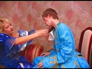 Adult smurfette costume Guy and mature woman fucking in historical costumes