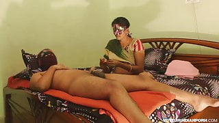 Sexy Desi Horny Bhabhi Amrita With Young Lover Passionate Fu