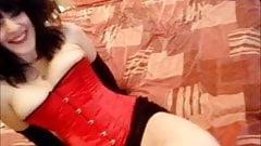 Hot emo punk blowjob in corset