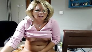 Blonde Mature Doing What She Does Best