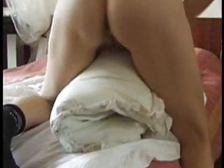 Girls without boobs Quick pillow humping orgasm without clothes