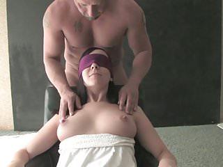 Husband fucked blindfolded Nice brunette amateur girl fucked blindfolded