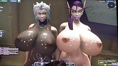 cum tribute for 2 hot voidelfs Evelyneverrest and Arodeth