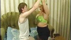 Milf maid vs young boy