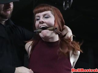 Cane sex - Analhook tiedup submissive caned in dungeon