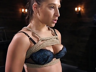 Breast weeping open wounds Abella danger weeping and cumming in rope bondag