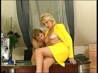 Women fuck young boy - Lady boss fuck young boy