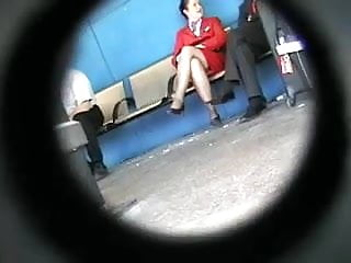 Stewardesses having stockings sex Virgin air stewardess