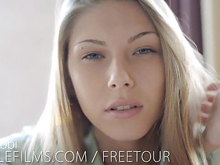 Nubile teen squirts cum video - Nubile films - stunning blonde ebbi cums for you