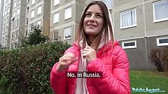 Public Agent Hot Russian with tattoos loves taking big dick