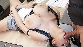 LOAN4K. Slutty bitch with big tits pays with sex for help...