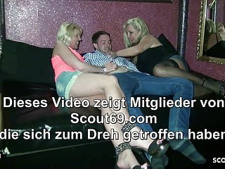 Milf first threesome German mom and aunt seduce young guy to fuck first threesome