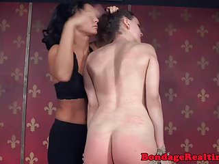 Lingerie restraints Smalltitted bound sub spanked and restraint