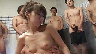 Delicious Japanese babe Yuu Kawano enjoys a nasty orgy