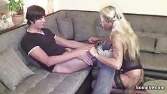 German MILF Mother Claudi Seduce Young Boy to Fuck her