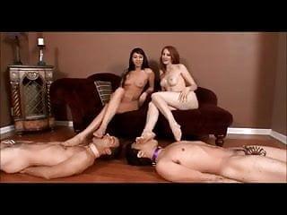 Male foot fetish clubs connecticut - 2 lesbian mistress use male feet slave