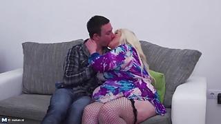 Mature BBW mother seduce lucky step son