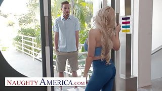 Naughty America - Casca Akashova fucks the neighbor's stepson