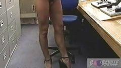 Sarenna Lee with dildo, solo in studio