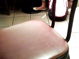 Flat naked woman - Candid indian woman feet in white flats starbucks