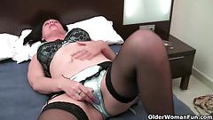 brunette shemale strokes her cock cam