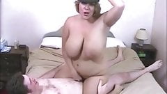 Amazing big titted MILF Curvyclaire fucks young lad