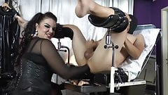 Fisting, strapon, session with a German mistress part 4