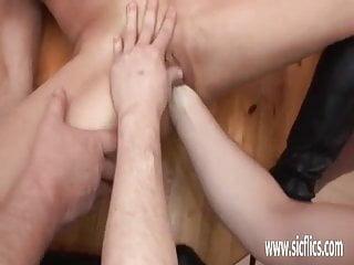 Slut wife gang bang - Amateur wife gang bang fist fucked