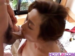 Boner suck Japanese milf sucking and riding boner