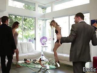Homemade sex swap video Babes swap cum in fourway