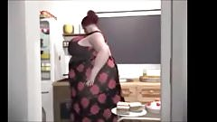 BBW Nadia - Obese in the Kitchen!
