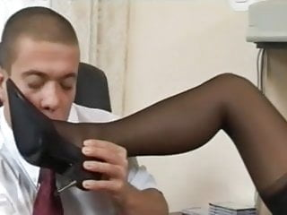 Office scene sex - Leg and feet scene at the office
