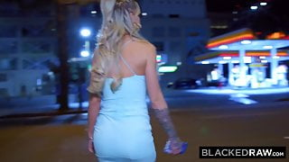 BLACKEDRAW She forgot about her white bf for a night