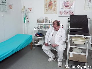 Private gallery of naked housewives - Medical examination of naked senior woman
